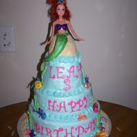 Little Mermaid & Friends  This cake was a lot of work, some of my 1st fondant figures. The cake is all chocolate with peppermint buttercream with fondant accents....