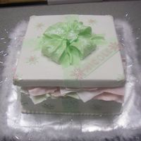Gift Box  I made this cake after watching Sharon's boxes and bows DVD, it was such an amazing video!! Its all buttercream with fondant accents...