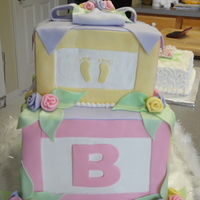 Abc Baby Blocks All buttercream with fondant accents.... I so loved this cake, until someone pulled out in front of me and I had to slam on my brakes - my...