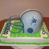 Football Helmet - Cowboys Side