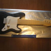 Guitar Life size guitar cake for groom's cake. 1st attempte at making one like this:)