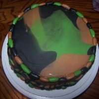 Camoflauge Birthday Cake Here is the top view of the cake