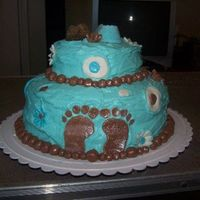 Baby Shower Cake This was my first time to make a baby shower cake. The customer wanted the icing to be rough looking and now smooth. My self I didn't...