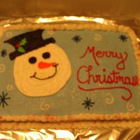 Snowman Cake Borrowed this idea from a fellow CC! Thank You!!