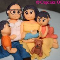 Happy Family Happy family figurines for a cake for a baby's 1st month. Figurines were done per request of the mother. All figurines are made from...