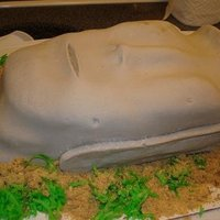 Easter Island Statue This cake was for a friend's birthday. It's an Easter Island (Rapa) statue.