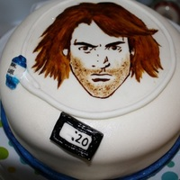 Macgruber Cake Cake for a friend's birthday. He loves MacGruber. I hand painted this image. I think it turned out really well.