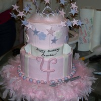 Princess Birthday Cake I was asked to do a birthday cake for a friend niece who was turning 4. With inspiration from all of the beautiful cakes here on Cake...