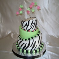 Topsy Turvy Zebra Print My first attempt at a topsy turvy cake. I just wanted to give it a try and see how I would do. It was a little difficult, but I am pleased...