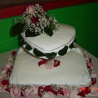 Valentines Bridal Shower Cake Valentine's Day Bridal Shower Heart Cake