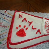 Cheerleader Birthday My son's girlfriend wanted a cheerleading cake for her birthday. This along with a pom pom cake was a big hit. She loved the paw print...