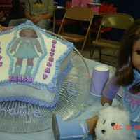 American Girl Birthday Cake Cake made for my friend's little girl. She wanted a cake of her American girl doll.