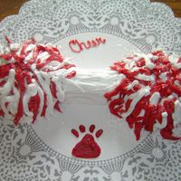 Pom Pom Cake Used with megaphone cake for cheerleader birthday.