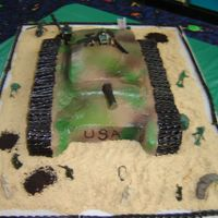 Army Tank   Little boys army tank cake