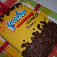Yoohoo Chocolate Milk a carton of Yoohoo in cake form