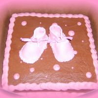 Marble Cake W/ Fondant Booties!   I tried my luck at making fondant booties! Turned out pretty good i think!