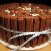 Candy Barrel Cake Dark chocolate cake, cooked fudge icing & filling. Barrel is filled with malted milk balls, nonpareil candies, Reese's Pieces,...