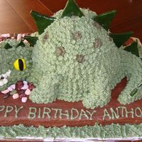 Dinosaur Cake A variation of the Wilton Dino cake. The birthday boy wanted one 'with teeth'! :) TFL!