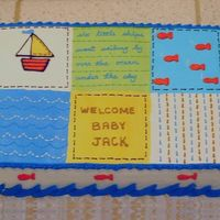 Pottery Barn 'baby Boats' Quilt Made to match the baby-to-be's Pottery Barn 'Baby Boats' room theme.