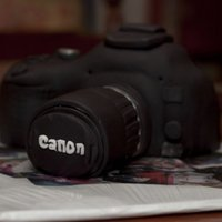 Canon Camera French Vanillia cake covered in fondant