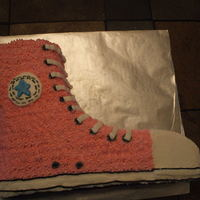 Sneaker   Pound cake with buttercream frosting.