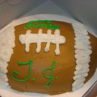 Football Football birthday cake