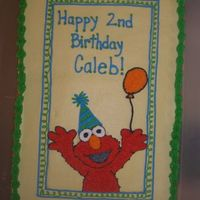 Elmo! 1/2 sheet, Elmo! Butter yellow cake with buttercream frosting.