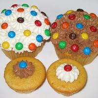 34Th Cake - Al's Thank You Golden Yellow Cupcakes with White Chocolate Frosting or Dark Chocolate Frosting & Tiny M&Ms