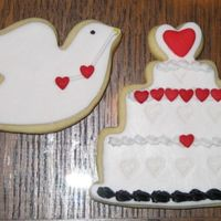 37Th - Marlene's Wedding Cookies  Almond 'No Fail Sugar Cookies' with Fondant Cookie Cutter Cut-Outs placed on Hot Cookies pressed designs when cooled. Antonia&#...