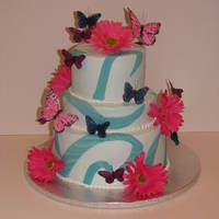 3 Tier 10 8 6 Wasc This cake is for a co-workers daughters 19th birthday. Not my cup of tea but they liked it.