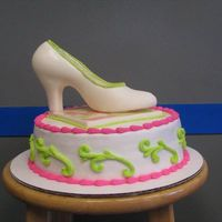Shoe On 9 Inch 9 Inch Chocolate WASC recipe with white chocolate shoe and platform and #4pearls. What would you charge for this cake? I undercharged at $...