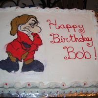 Grumpy Cake I did this for a one of my bosses at work. He said he just didn't want a cake this year so I had to do this! I did this FBCT at the...