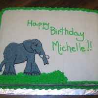 Elephant Cake I did this cake for my cousin who loves elephants - I wish I had know how to do the FBCT then....