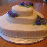 My Best-Friends 40Th Birthday This was my 1st stacked cake - I wanted to do something special for her 40th, but she didn't really want it advertised how old she was...