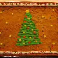Giant Christmas Tree Cookie I used an 11x15 cake pan for this cookie. It was yummy!Inspired by another CC member - Thank you!