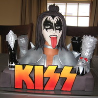 Kiss Cake THIS IS A CAKE I CREATED FOR MY DAUGHTER'S B-DAY. I WAS QUITE PROUD OF HOW IT TURNED OUT. EVERY THING ON THE CAKE IS 100% EDIBLE. GENE...
