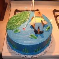 Dreaming Fisherman I did this cake for my grandpa's birthday everything is edible except the fishing pole and line. This was a lot of fun. I just put...