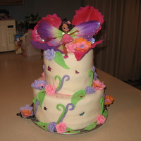 Fairy Thumbilina   This is one of my best cakes. I did this for my niece for her 4th Birthday. She loved it.