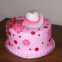 Cowgirl Cake Buttercream cake with gumpaste hat.