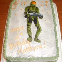 Halo Wars Cake For 11 Year Old