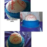 Baseball Cake   this cake is a WASC iced in butter cream, thanks for looking. yay I finally got a new camera just gotta to learn how to take better pics