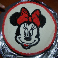 Minnie Mouse Cake  I MADE THIS CAKE FOR A CLASS IM TAKING...THIS IS THE FIRST CAKE OF THE CLASS (NOT MY FIRST CAKE). THE TEACHER SHOWED US THE GEL TRANSFER...