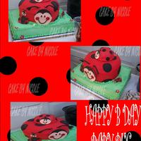 Ladybug Bday Cake  goodness it seems everything went wrong with this cake that possibly could...but Im happy with the outcome...inspiration came from another...