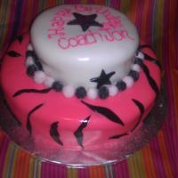Birthday Cake For Cheerleading Coach Fondant covered