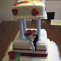 First Weeding Cake With A Christening Cake I received this order and I made suggestion with couples pictures I found on this web site. This is my very first weeding cake and first...