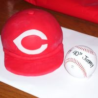 Cincinnati Reds Ball Cap Made this for my husband's 40th birthday.