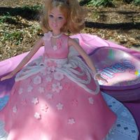 Princess Doll Cake I made this cake for my dd's third birthday this weekend. It was my first doll cake but she loved it!