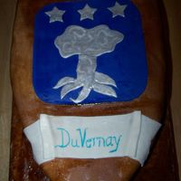 Duvernay Family Crest CSM: This was made for my DH's family reunion. Everyone loved it :) The only thing I didn't really like about it was the blue...