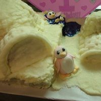Penguins And Igloos This was made for my friend's daughter's 1st birthday. Unfortunately, my BC started melting on me, so it didn't turn out as...