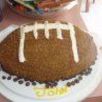 Football Cake cake for my newphew.. cho. cake with cho. buttercream frosting..